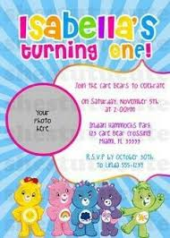 care bear invitation template free care bear baby shower