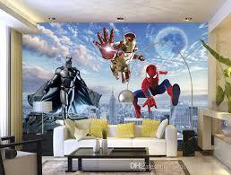 Spiderman Wallpaper For Bedroom Custom 3d Photo Wallpaper Batman Iron Man Wallpaper Spider Man