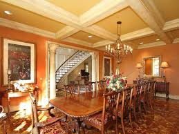 Traditional Dining Room Chandeliers Traditional Dining Room With Hardwood Floors U0026 Columns In Concord