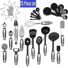 Kitchen Utensils And Tools by 25pc Kitchen Tools Set Stainless Steel And Nylon Utensils Spatula