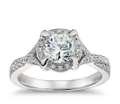 twisted shank engagement ring lhuillier twist shank engagement ring in platinum blue nile