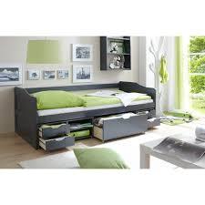 canap tiroir canapé lit multifonction avec tiroirs et niches marlies gris achat