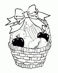 colouring pages fruit basket coloring pages for kids and for