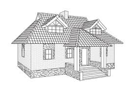 house to draw drawn house realistic pencil and in color drawn house realistic
