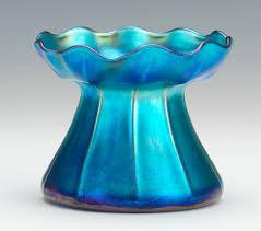 Tiffany Favrile Glass Vase A Loetz Threaded Glass Vase 12 12 13 Sold 92