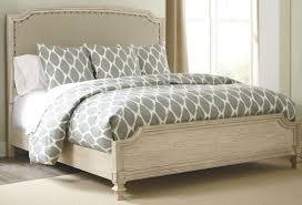 Ashley Millennium Prentice White Queen Bedroom Suite Demarlos Queen Upholstered Panel Bed From Ashley B693 77 74 96