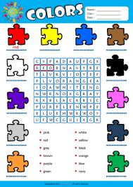 colors esl printable worksheets for kids 1
