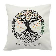 personalised celtic family tree cushion cover bealtaine