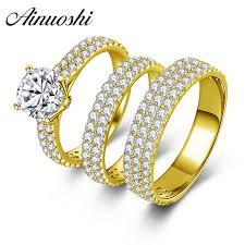 Trio Wedding Ring Sets by Online Get Cheap Trio Wedding Ring Sets Aliexpress Com Alibaba