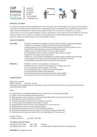 Assistant Teacher Duties For Resume English Teacher Cv Sample Assign And Grade Class Work Homework