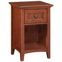 furniture brown stained wooden nighstand with lockable drawer as