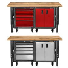 l shaped garage workbench warm home design