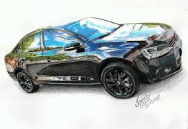 volkswagen van drawing volkswagen jetta black edition speed drawing youtube
