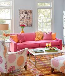 orange livingroom pink and orange living room design ideas pictures