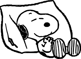 snoopy pillow sleep coloring page wecoloringpage
