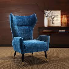 Modern Digs Furniture by Logan Chair Navy Blue Velvet Modern Digs Furniture
