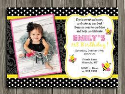printable bumble bee birthday photo invitation bug