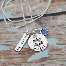personalized necklace silver images Bat mitzvah personalized necklace jpg