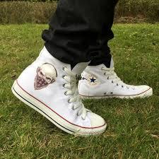 motorbike sneakers aliexpress com buy men women u0027s new converse all star shoes skull