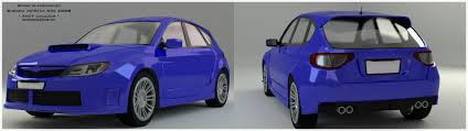 subaru impreza wrx subaru impreza wrx sti 2008 3d model cgtrader