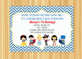 costumes birthday party invitations u2013 festival collections