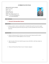 Instrumentation Project Engineer Resume Electrical And Instrument Engineer Cv