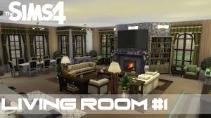 the sims 4 room design living room 1 youtube
