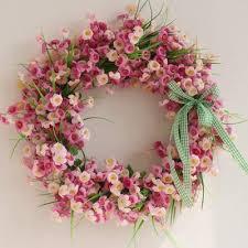 pink silk garland door decoration wedding flower home decor