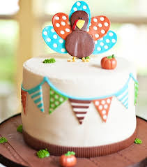 modern colorful kid friendly thanksgiving themed birthday