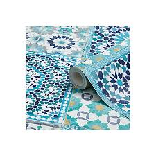 grandeco sapphira blue mosaic tile wallpaper departments diy