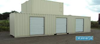 creating a storage facility with shipping containers