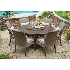 sams club patio table member s mark fairbanks 8 piece fire pit dining set sam s club