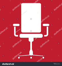 Office Chair Clipart Office Chair Icon On Red Background Stock Vector 621866333