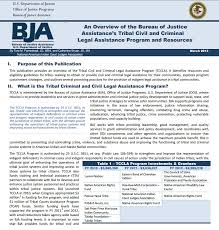 us bureau of justice an overview of the bureau of justice assistance s tribal civil and