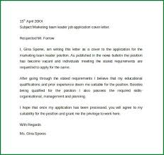 Team Leader Sample Resume by 5 Sample Resume Cover Letter Examples Applicationsformat Info