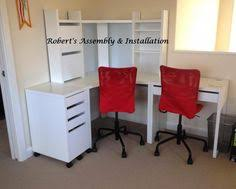 corner study table ikea ikea micke corner station and two desks excellent condition desks