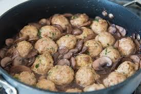 turkey meatballs in creamy mushroom healthy baked turkey meatballs