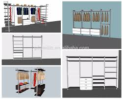 Pole In Bedroom U Shape 3 Door Pole System Bedroom Wall Mounted Wardrobe Design