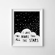 Childrens Bedroom Wall Art Uk Gender Neutral Baby Gift Nursery Decor I Love You More Than All