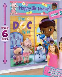 DOC MCSTUFFINS Scene Setter HAPPY BIRTHDAY Party Disney wall decor