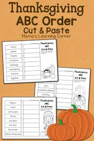 Thanksgiving Worksheets For 3rd Grade Thanksgiving Abc Order Cut And Paste Worksheets Mamas Learning