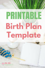 birth plans u0026 birth plan templates to download u0026 print natural