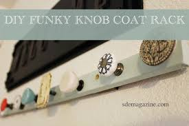 funky knob coat rack