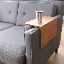 Couch Arm Wrap Solid Wood Custom Arm Drink Rest Laptop Table For