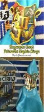 hogwarts crest napkin ring printables everyday parties