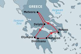 Delphi Greece Map by Highlights Of Greece Peregrine Travel Queensland