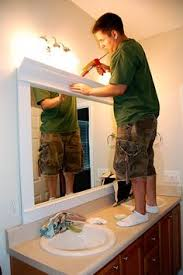 Bathroom Mirrors Framed by Framing Bathroom Mirrors A Great Tutorial With Step By Step