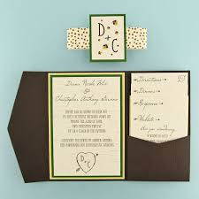 pocket invitations woodgrain and firefly pocket invitation cards pockets design
