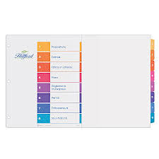 avery 15 tab table of contents color template avery ready index table of contents dividers 11 x 17 multicolor 8