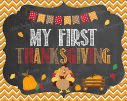 baby s 1st thanksgiving day chalkboard sign instant